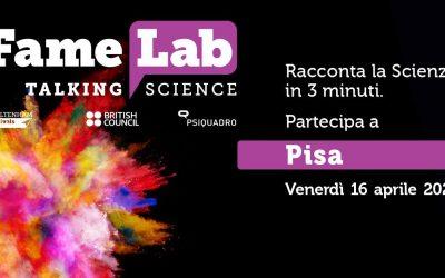 Al via le selezioni di Famelab Pisa 2021